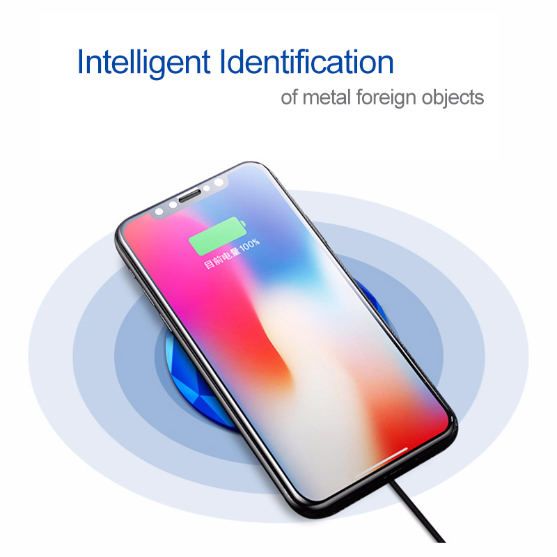 Fimilef New Innovative Diamond Model Wireless Charger for iPhone X 8 Qi Fast Wireless Charging Pad for Samsung Galaxy S8/Note8