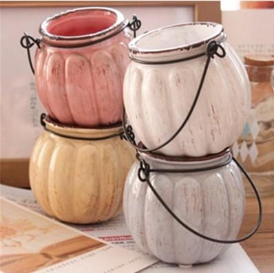 zakka vintage mini calabaza de cermica macetas mnima calabaza jarrones para la decoracin del hogar plantas