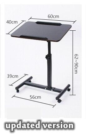 Комната простая Desktop ноутбук компьютерный стол кровать стороне ноутбука шкив стол бытовые современные поднимаясь компьютерный стол 60x40 см
