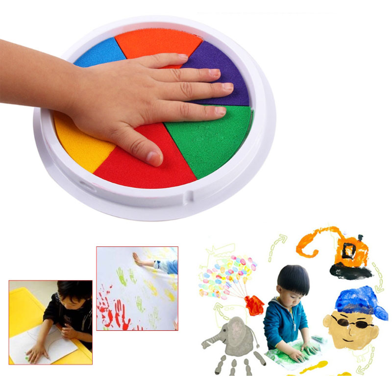 DIY Finger Painting Toys 6 Color Kids Funny Graffiti Art Craft Inkpad Stamps Baby Learning Education Toy Montessori Drawing Toys
