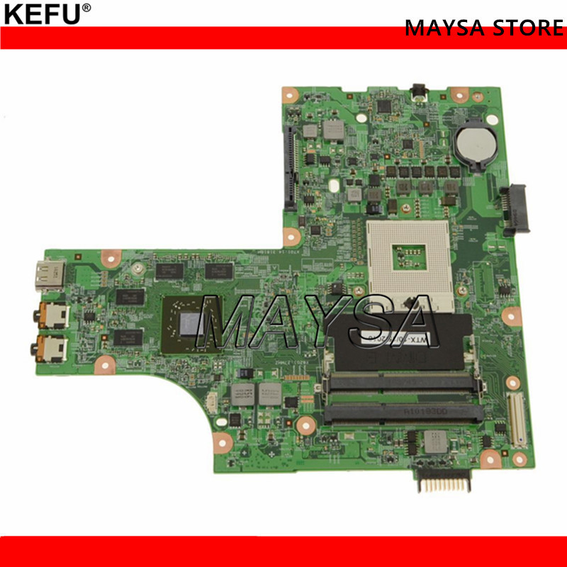 KEFU Fit For Dell Inspiron 15R N5010 Laptop motherboard CN-0W9PGG 0W9PGG HM57 PGA989 48.4HH25.011 With graphic card test good nokotion brand new qcl00 la 8241p cn 06d5dg 06d5dg 6d5dg for dell inspiron 15r 5520 laptop motherboard hd7670m 1gb graphics