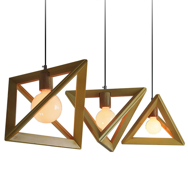 ∞Modern Wood Pendant Lights E27 Vintage Light Pendant Lamps for ...
