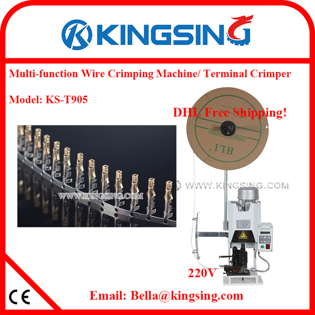Wire harness crimping machine semi automatic crimping machine eletronic wire terminal crimper KS T905 DHL Free_640x640 wire harness crimping machine,semi automatic crimping machine wire harness crimper at cos-gaming.co