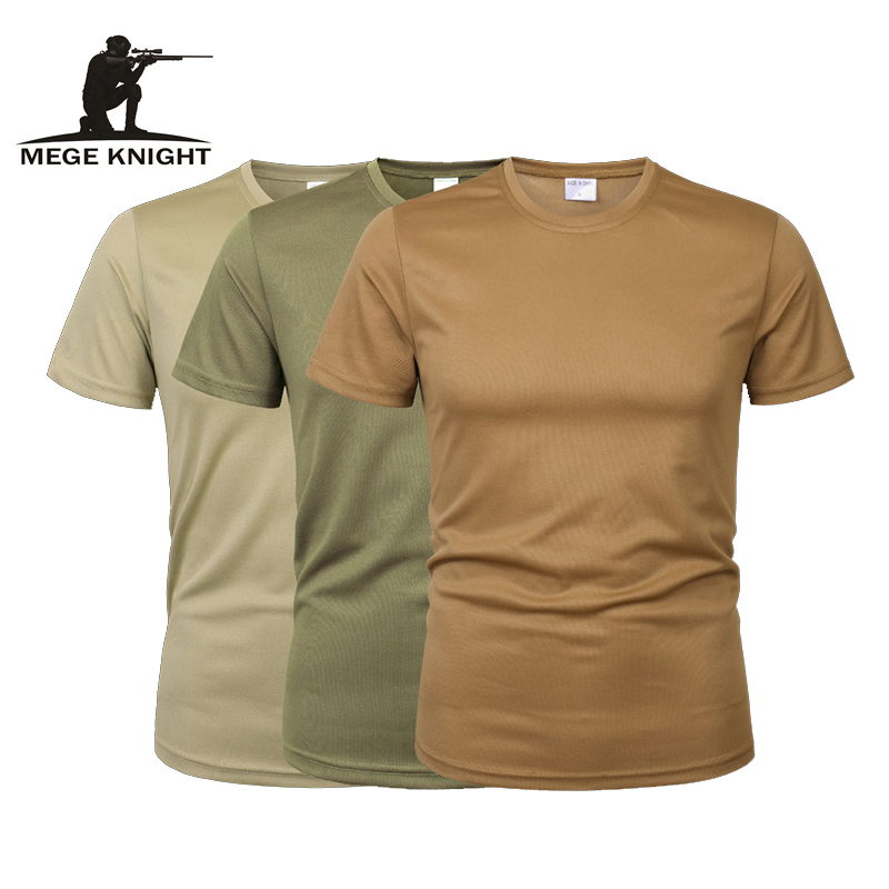 MEGE 3 Pcs/2 Pcs Men Camouflage Tactical   T     Shirt   Army Military ShortSleeve O-neck Quick-Drying gym   T     Shirts   Casual Oversized 4XL