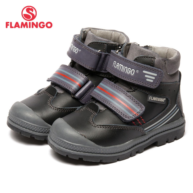 FLAMINGO Autumn/winter Keep warm Boot High Quality Hook & Loop Anti-slip Children Shoe for Boy Free shipping 82B-XY-1012 3d rock sea floor sticker