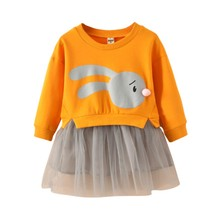 Kids Baby Long Sleeve Dress Girl Clothing Cartoon Infant Dresses Princess