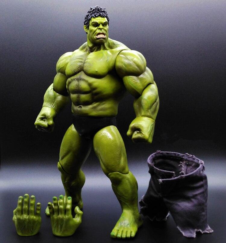 SAINTGI 1pcs HULK Avengers2 II Captain America 3 Action Figures Super Hero Marvel PVC 26cm Model Gifts OPP BAG Anime Immovable