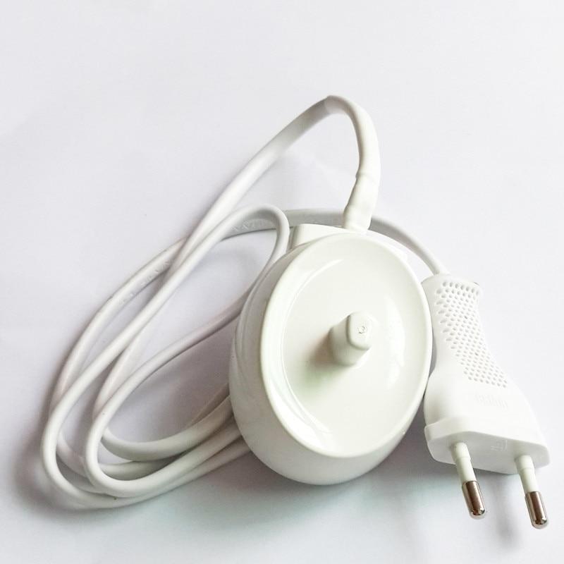 Galleria fotografica UE Plug Replacment Chargeur Brosse À Dents Électrique Modèle 3757 Pour Braun Oral-B D12 S12 S18 D16 D17 D18 D19 D20 D29 D34 OC18 OC20
