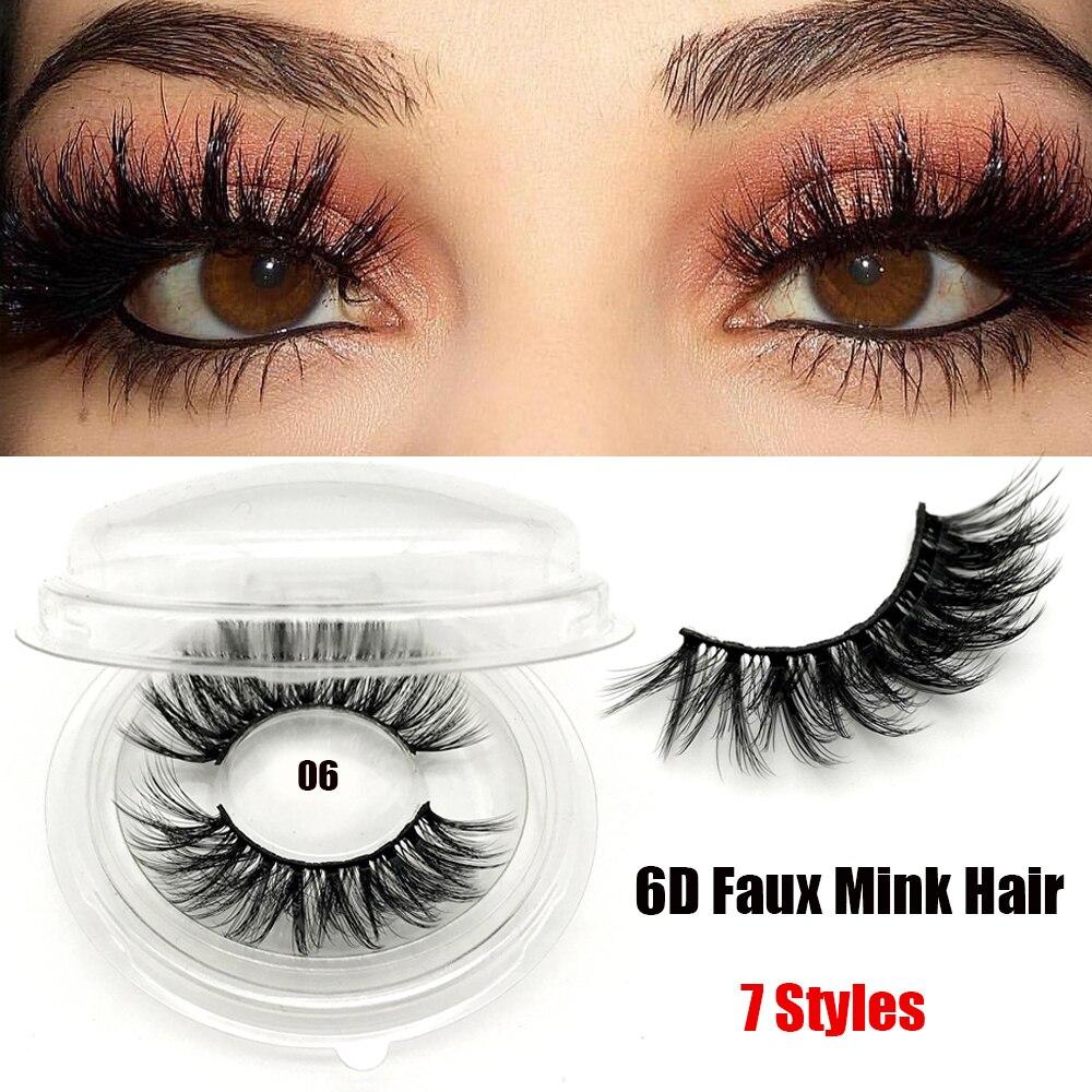 1Pair 2020 3D Faux Mink Hair False Eyelashes Criss-cross Feathery Wispy Lashes Natural Long Eyelashes Makeup Extension Maquiagem