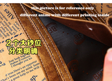 PU wallet printed with Japan One Piece