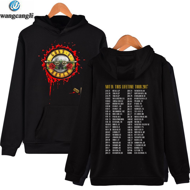 bb7b11dc 2019 Guns N Roses Hoodies Sweatshirt Men/Women Rock Band Hip Hop Hoodie  Tracksuit Fashion Plus Size Jacket Coat moletom sudadera