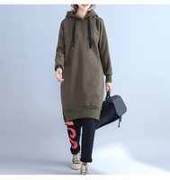 2018 New Fashion Hooeded Sweatshirt Women Elegant Split Ends Solid Long Sleeved Pullover Fashion High Quality