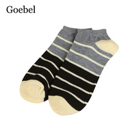 Goebel Short Tube Socks Man Stripe Fashion Invisible Men Simple Socks Shallow Mouth Simple Summer Socks