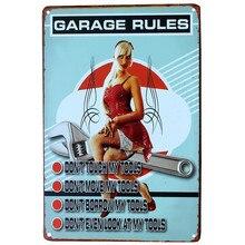 Car Repair Garage Retro Poster For Bar and Pub Decoration