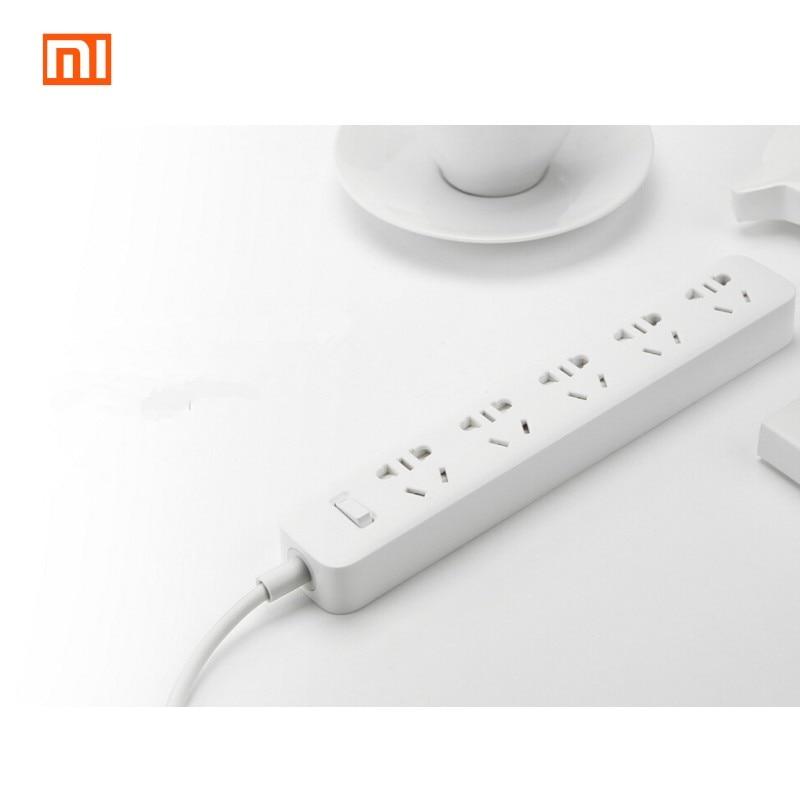 Original Xiaomi 5 Plug Power Sockets Smart Power Strip Plug Intelligent  Electrical Power Socket With Standard AU Plug White@