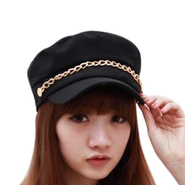 Women Hats Solid Color...