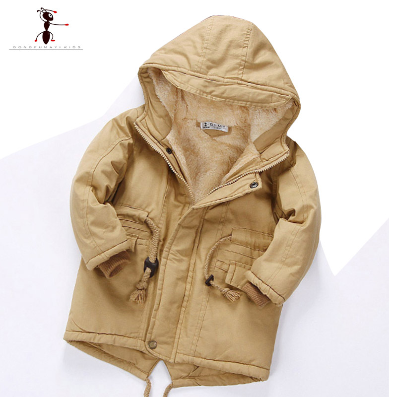 adc8b3396 2018 kung fu ant winter children hooded full sleeve fur armygreen ...