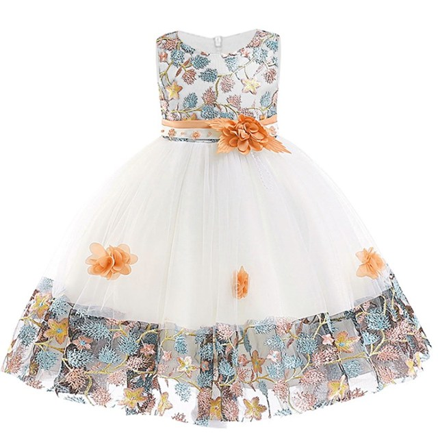 Embroidered Formal Princess Dress for Girl