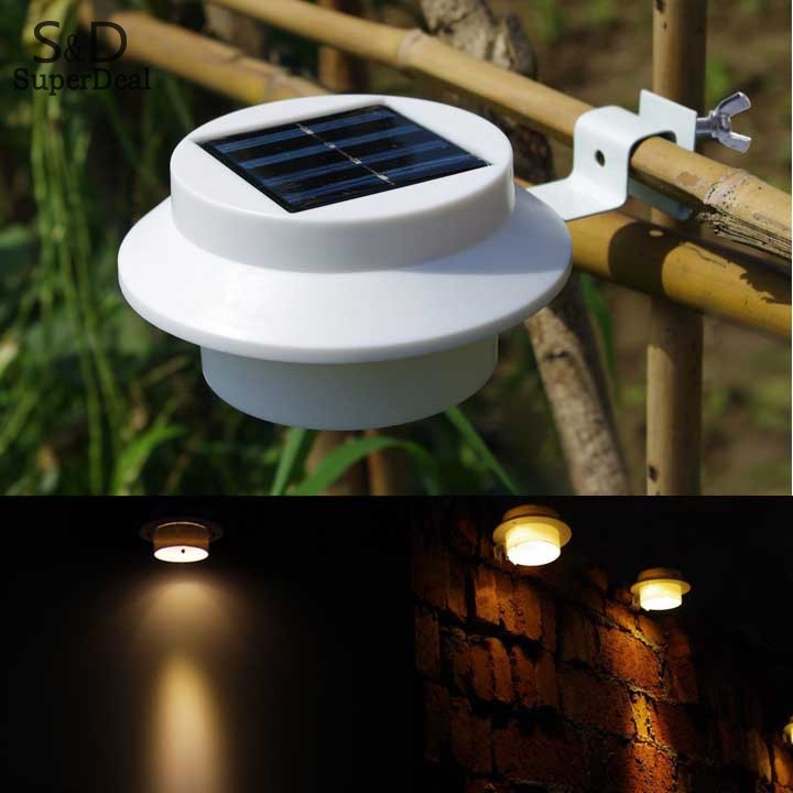 Super Bright Yard Lamp Solar Panel Garden Light 3 LED Lights Outdoor Home  Decor Deft Design Garden Solar Light #k