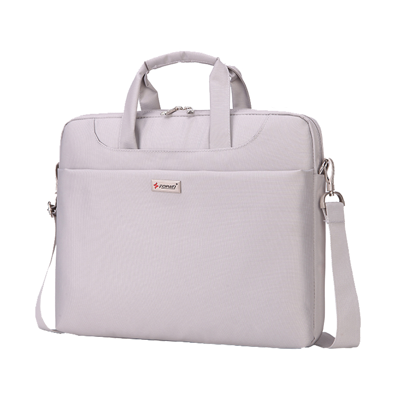 14-15 inch Laptop Bag Women Men Notebook Bag Shoulder Messenger Waterproof Computer Sleeve Handbag (Light Gray)