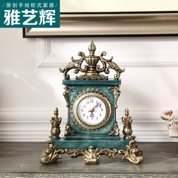 Vintage  Clock Classic Silent  Decorative Household Double Sided Bracket Clock Retro Horological Decoration Wall Clock 3DNZE04