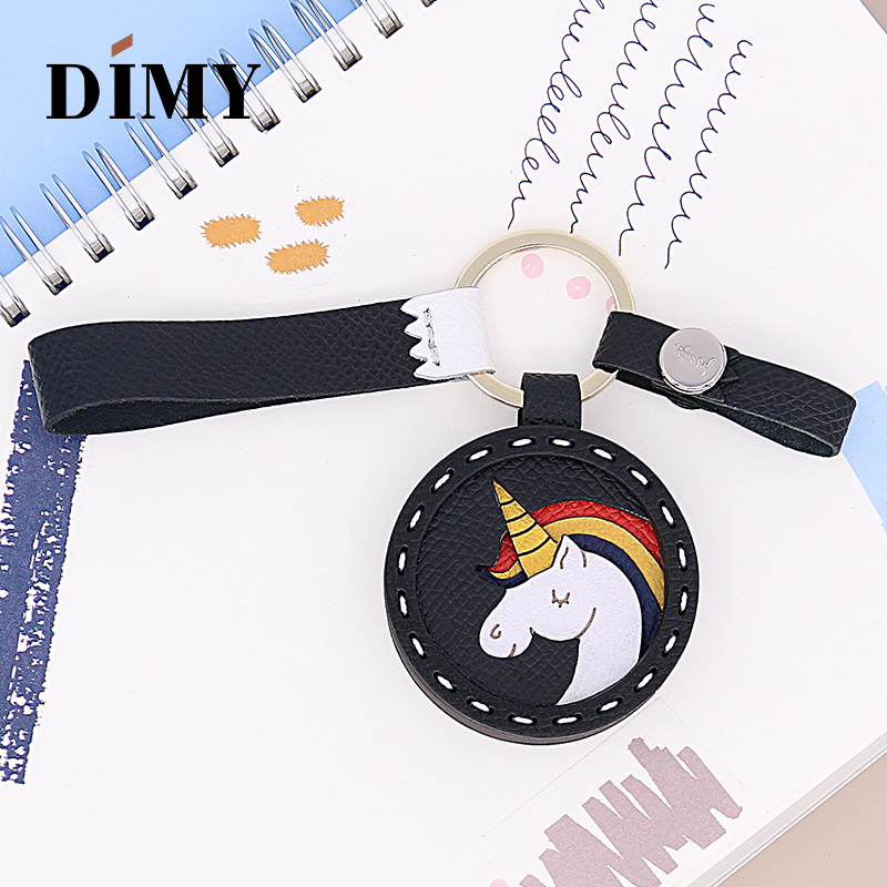 DIMY Genuine Leather Unicorn Bag Charms Cute Keychain Car Pendant Epsom Cowhide Wholesale Dropshopping Price Bag Charms Luxury
