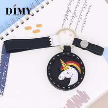 DIMY Genuine Leather Unicorn Bag Charms Cute Keychain Car Pendant Epsom Cowhide Wholesale Dropshopping Price Luxury