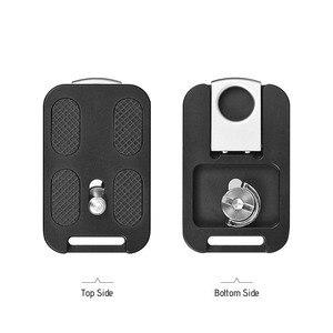 "Image 5 - Andoer QR 60 퀵 릴리스 플레이트 1/4 ""스크류 마운트 (캐논 니콘 소니 dslr 용 arca swiss 볼 헤드 삼각대 용 부착 루프 포함)"