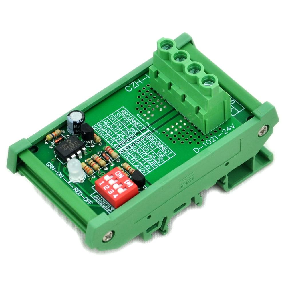 Electronics-Salon DIN Rail Mount LVD Low Voltage Disconnect Module, 24V 30A, Protect Battery.