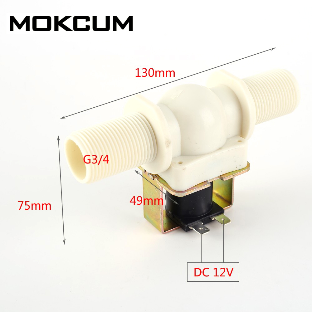 1//2 N//C Elektrisches Magnetventil 12V Magnetische Wasser Luft Normal Geschl