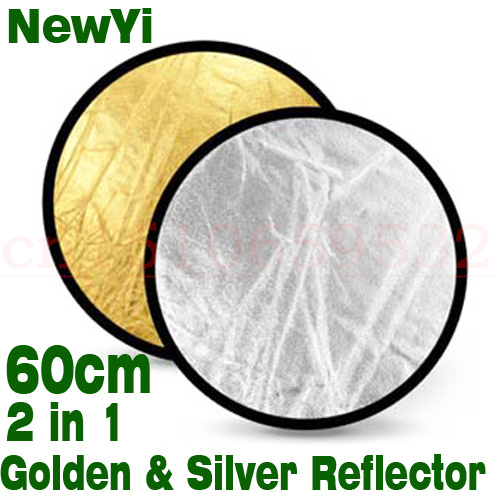 60cm Photography Studio Reflector gold and silver double sided soft board camera photography reflectors