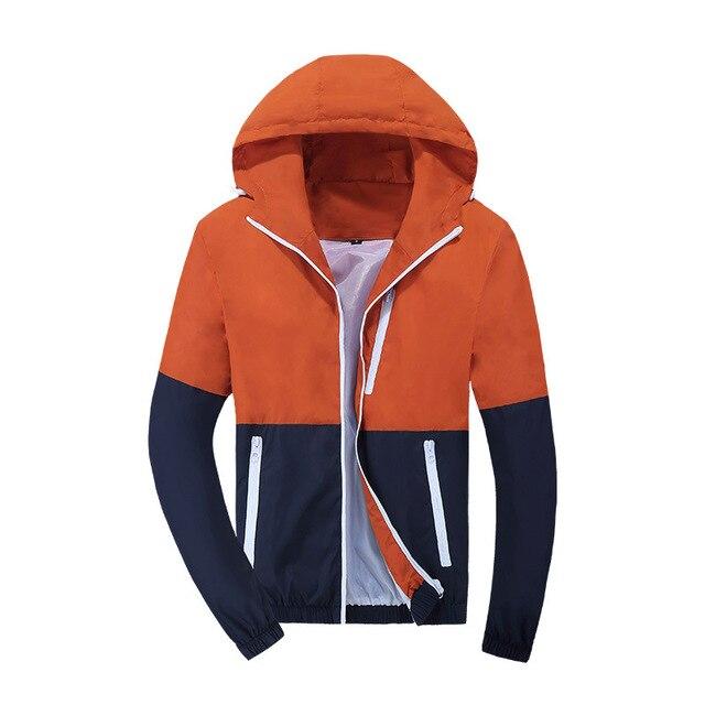 2021 Spring Autumn Fashion Jacket Men's Hooded Casual Jackets Jacket Men WindbreakerMale Coat Thin Men Coat Outwear Couple 5