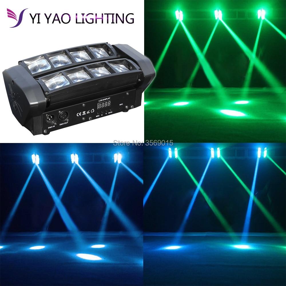 ミニスパイダーマン 8 × 6 ワット Rgbw ヘッド移動照明 LEDSpider LED DJ 移動ヘッドライト -