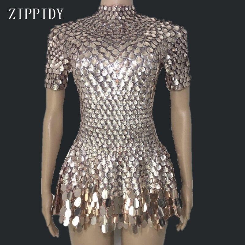 Блестящие прекрасный блёстки Мини платье костюм праздновать горный хрусталь боди на день рождения Серебряные платья для женщин пикантн