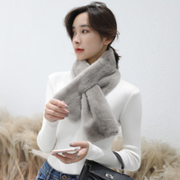 Корона Бархат класса норки шарф вся женщина теплый двусторонний комбинезон кожа волос