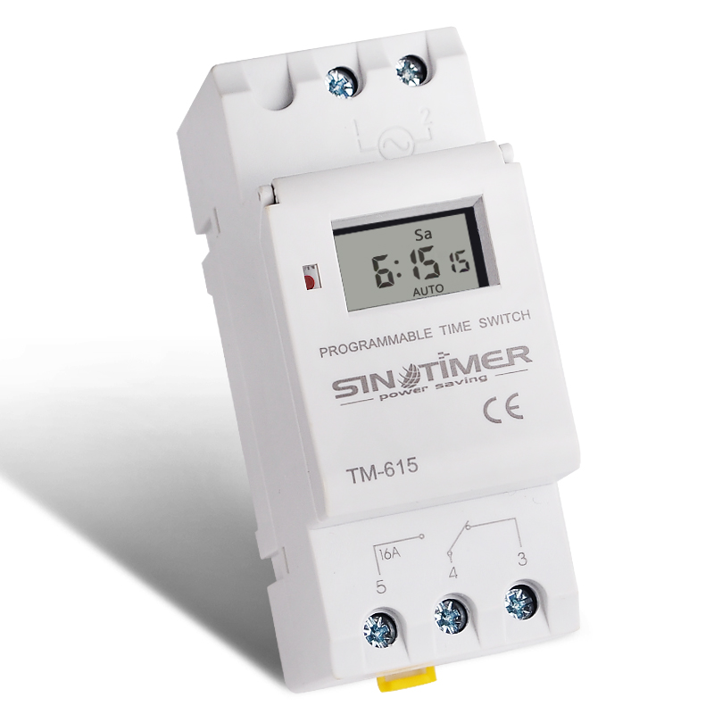 220V 16A Digital Timer Switch Programmable Time Relay For High Power LED Lighting Loading ON/OFF
