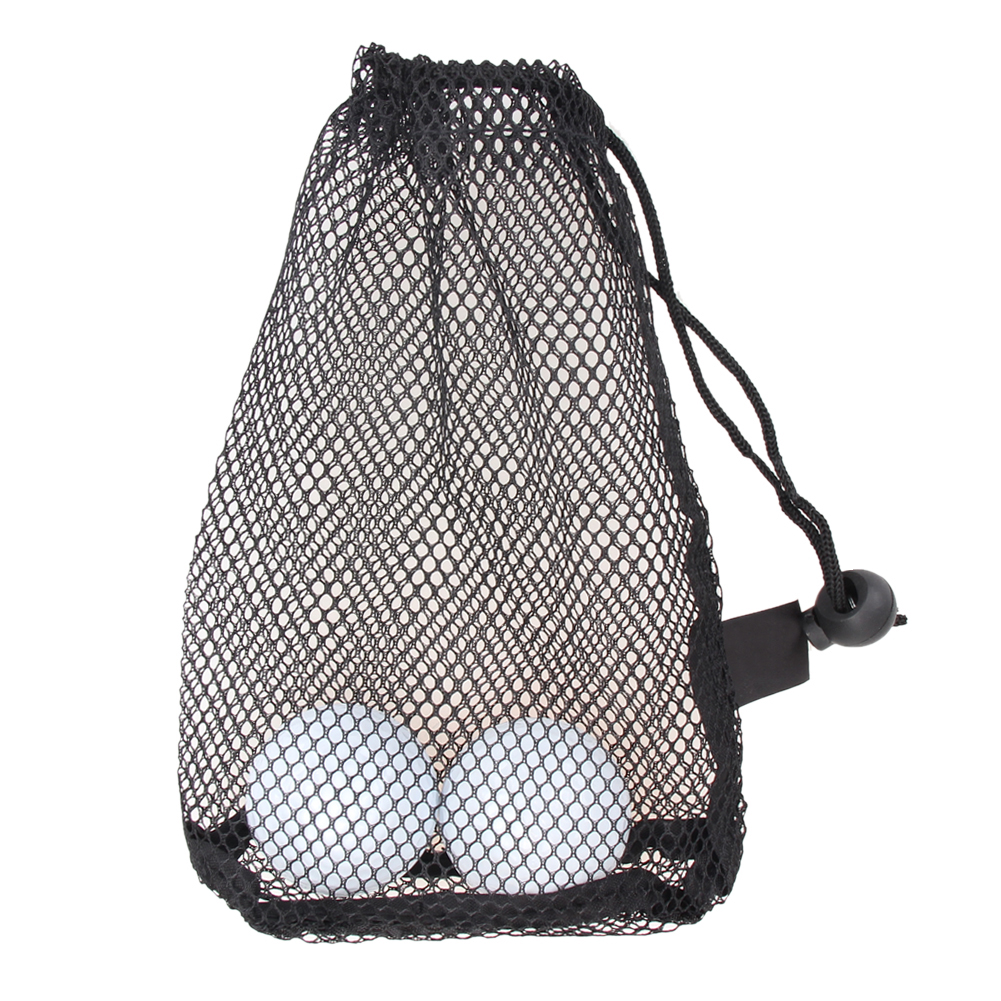 Nylon Mesh Nets Bag Pouch Golf Tennis 15 Ball Carrying Holder Storage Golf Training Aid