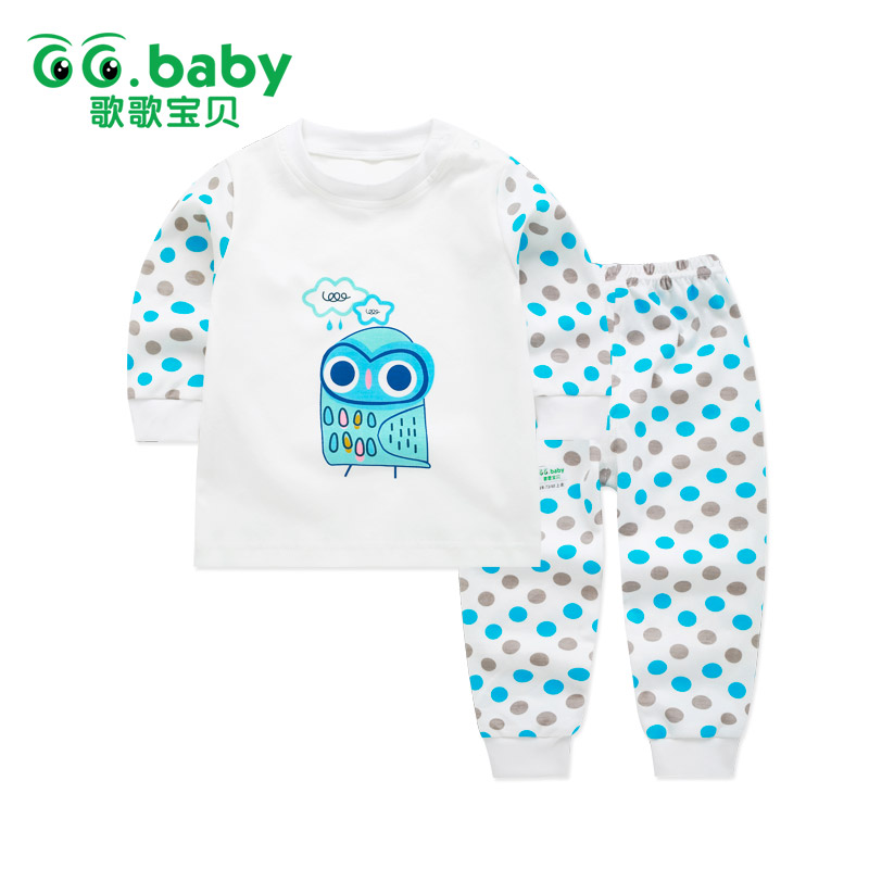 Fashion Dot Baby Boys Clothes Set Girl Clothing Sets Toddler Suit Owl Long Sleeve 2pcs/set Baby Girl Outfits Baby Child Pajamas kids boys clothes girls clothing sets toddler pajamas suit owl long sleeve spring 2pcs set baby girl outfit baby pajamas costume