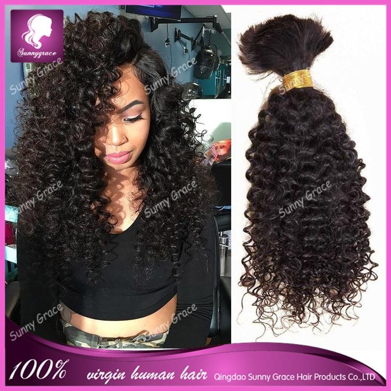 100 Human Hair For Braiding Crochet Braids Mongolian Afro