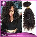 100% Human Hair For Braiding Crochet Braids Mongolian Afro Kinky Curly Virgin Human Hair For Braiding Bulk No Attachment