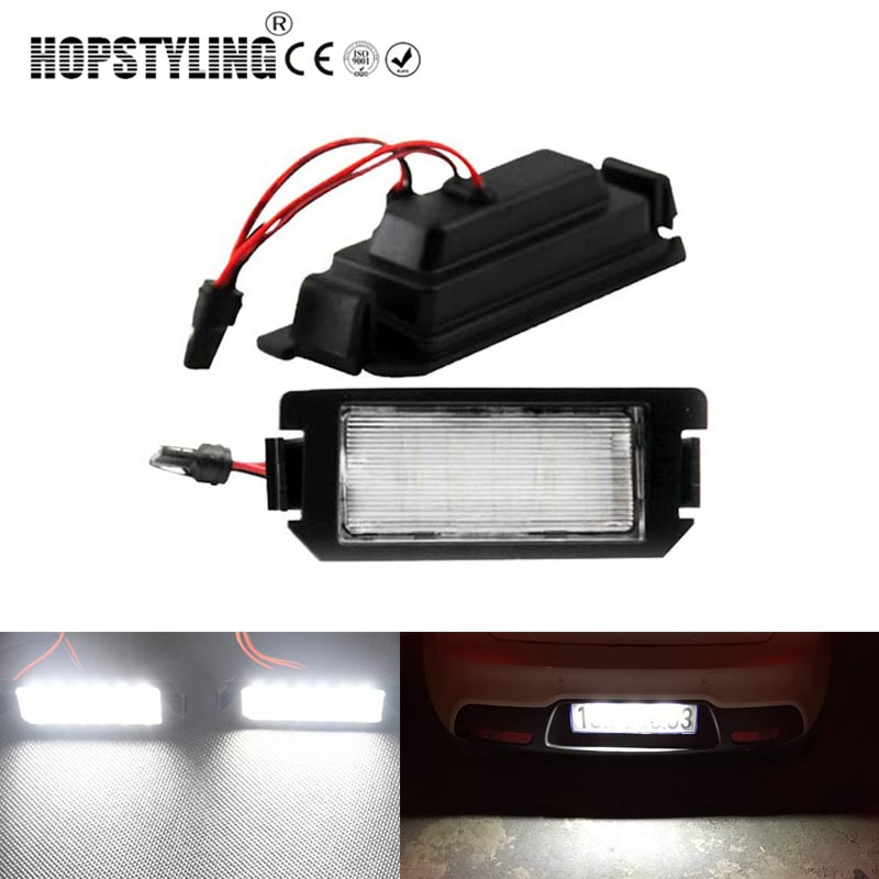 Hopstyling 2 pcs Error Free white LED Number Plate license light for Kia Rio III UB Picanto TA Soul AM Soul II PS car-styling