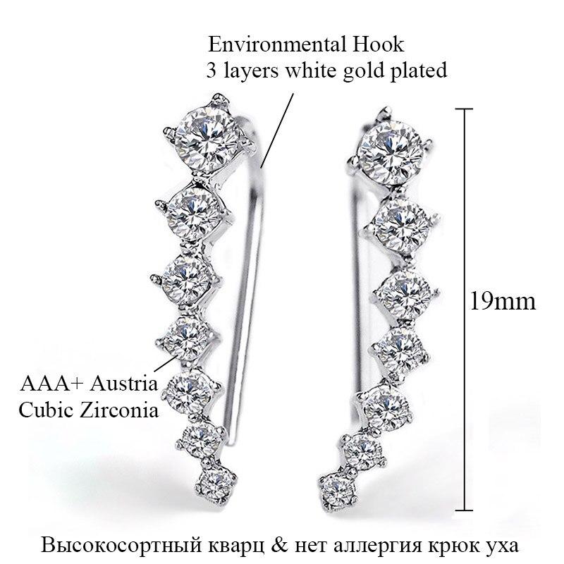 USTAR Πολύχρωμα Ζιργκόν κρύσταλλα Stud - Κοσμήματα μόδας - Φωτογραφία 6