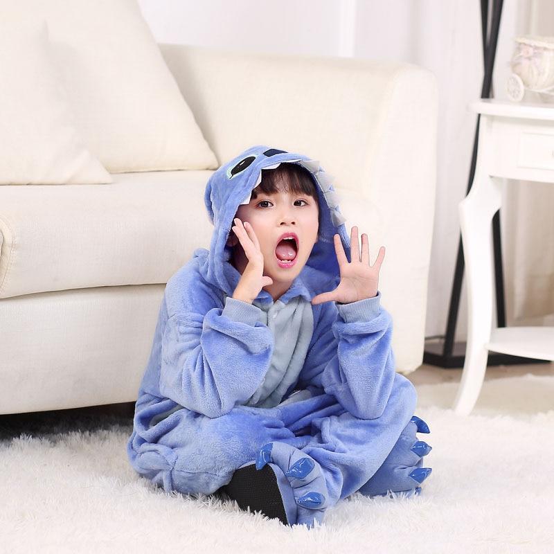 Eoicioi crianças kigurumi pijamas flanela animal pegasus