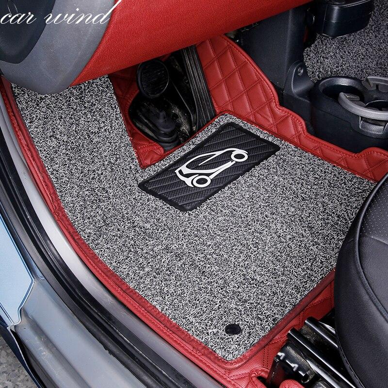 Автомобильный ветровой кожаный автомобильный коврик для Mercedes-Benz Smart fortwo forfour четыре сезона Авто водостойкий лайнер ковры автомобильные акс...