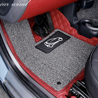 Car wind leather car floor mat for Mercedes Benz Smart fortwo forfour Four Season Auto waterproof liner Carpets car accessories