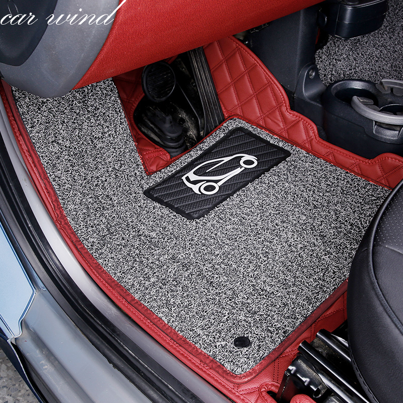 Car wind leather car floor mat for Mercedes-Benz Smart fortwo forfour Four Season Auto waterproof liner Carpets car accessoriesCar wind leather car floor mat for Mercedes-Benz Smart fortwo forfour Four Season Auto waterproof liner Carpets car accessories