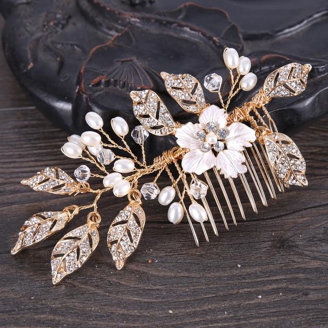 Golden Metal Leaves Hair...