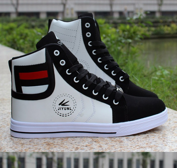 HTB1bF70XffsK1RjSszbq6AqBXXaS - HUANQIU Brand Men Shoes 2018 Spring Fashion Boots Shoes Man High Top Shoes Men Lace Up Casual Shoe Chaussure Plus size 45 ZLL434