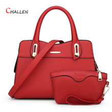 women bags fashion composite bags fashion design solid pu leather shoulder messenger bag black zipper polyester casual tote Y714