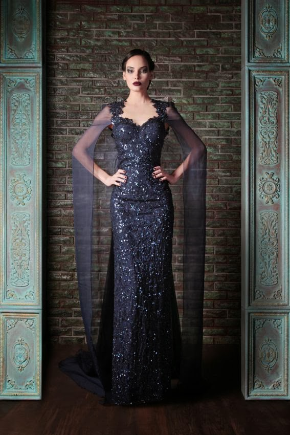 491373aa72f Navy Blue Sequined Mermaid Evening Dress With Jacket Cape 2017 Sparkly Sweetheart  Evening Prom Dress Long Abendkleider 2017 P08